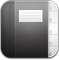 Contacts Black Icon 59x60 png
