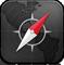 Safari Rings Black Icon 59x60 png
