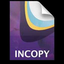 Adobe InCopy Document Icon 256x256 png
