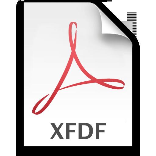 Adobe Acrobat XFDF Icon 512x512 png