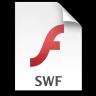 Adobe Flash Player SWF Icon 96x96 png