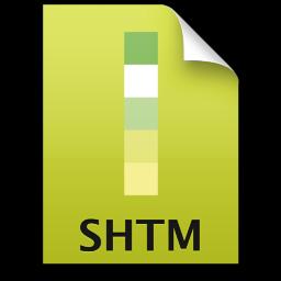 Adobe Dreamweaver SHTM Icon 256x256 png