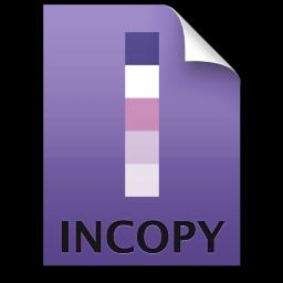 Adobe InCopy Stationary Icon 256x256 png