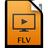 Adobe Media Player FLV Icon 48x48 png