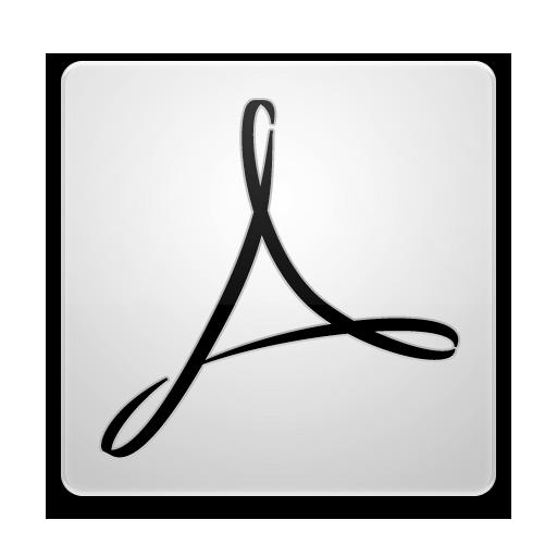 Adobe Acrobat 8 White Icon 512x512 png
