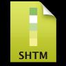 Adobe Dreamweaver SHTM Icon 96x96 png