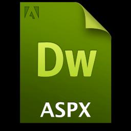 Adobe Dreamweaver ASPX Icon 256x256 png