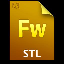 Adobe Fireworks STL Icon 256x256 png