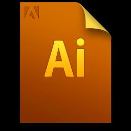 Adobe Illustrator Generic File Icon 256x256 png