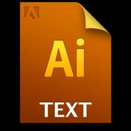 Adobe Illustrator Text Icon 256x256 png