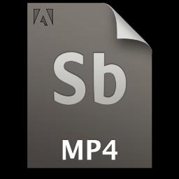 Adobe Soundbooth MP4 Icon 256x256 png