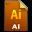 Adobe Illustrator File Icon 32x32 png