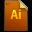 Adobe Illustrator Generic File Icon 32x32 png