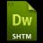 Adobe Dreamweaver SHTM Icon 48x48 png