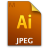 Adobe Illustrator JPEG Icon 48x48 png