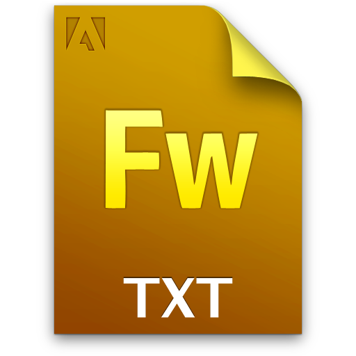Adobe Fireworks TXT Icon 512x512 png