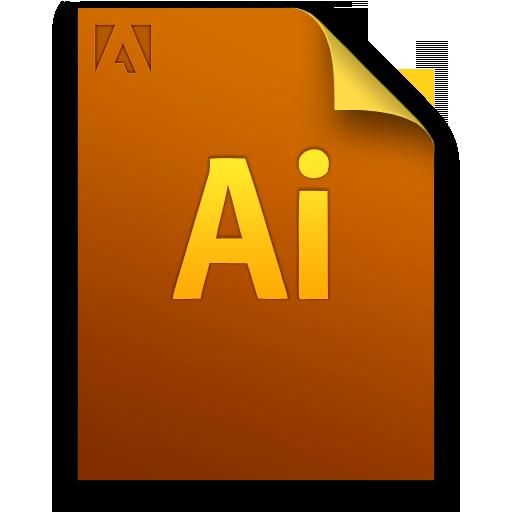 Adobe Illustrator Generic File Icon 512x512 png
