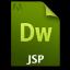 Adobe Dreamweaver JSP Icon 64x64 png