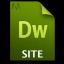 Adobe Dreamweaver SITE Icon 64x64 png