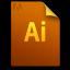 Adobe Illustrator Generic File Icon 64x64 png