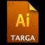 Adobe Illustrator Targa Icon 64x64 png