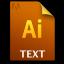 Adobe Illustrator Text Icon 64x64 png