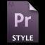 Adobe Premiere Pro STYLE Icon 64x64 png