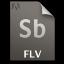 Adobe Soundbooth FLV Icon 64x64 png