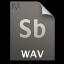 Adobe Soundbooth WAV Icon 64x64 png