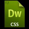 Adobe Dreamweaver CSS Icon 96x96 png