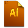 Adobe Illustrator Generic File Icon 96x96 png
