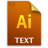 Adobe Illustrator Text Icon 96x96 png