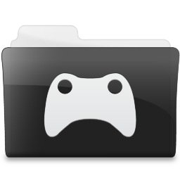 Folder Games Icon Black Icons Softicons Com