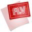 FLV File Icon 64x64 png