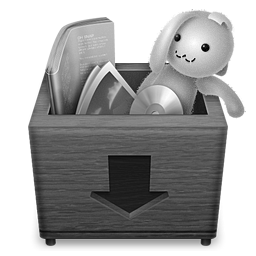 Grey Boxdrop Icon 256x256 png