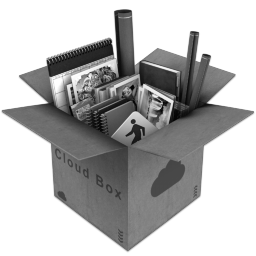 Grey CloudBox Icon 256x256 png