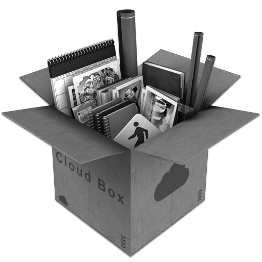 Grey CloudBox Icon 512x512 png