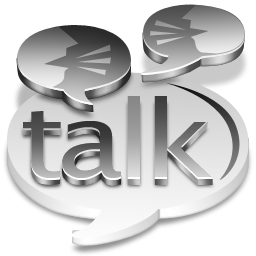 Grey Google Talk Icon 256x256 png