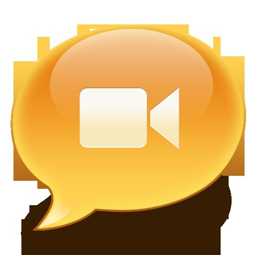 iChat Video Bubble Icon - iChat Emoticon Icons - SoftIcons.com