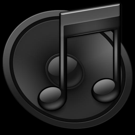 iTunes Black S Icon - iTunes Icons - SoftIcons.com