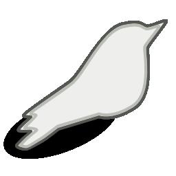 Songbird White Icon 256x256 png