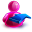 Rightback Girl Icon 32x32 png