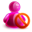 Blocked Girl Icon 64x64 png