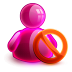 Blocked Girl Icon 72x72 png