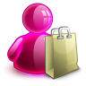 Shopping Girl Icon 96x96 png