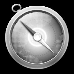 Grey Safari Icon 256x256 png