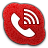 Skype Phone Alt Red Icon