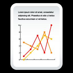 Document Line Chart Icon Soft Scraps Icons Softicons Com