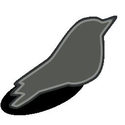 Songbird Grey Icon 256x256 png
