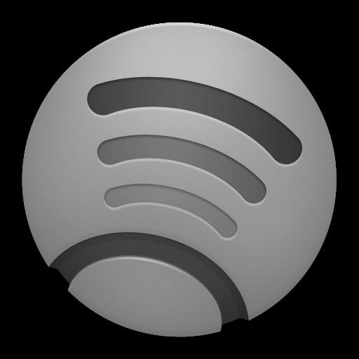Grey Spotify Icon 512x512 png